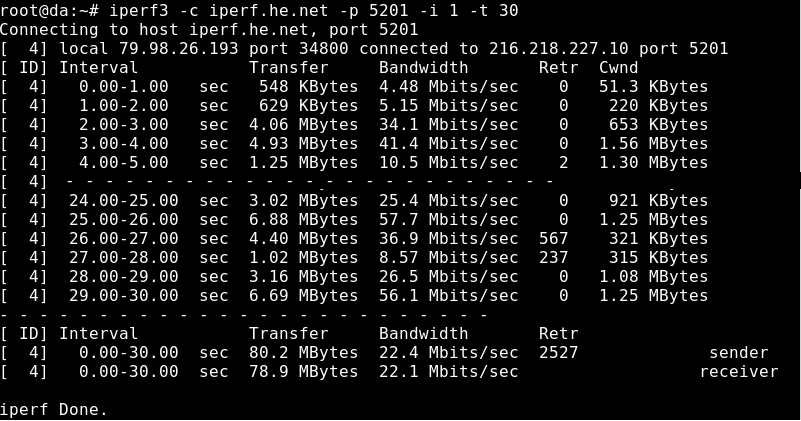 Testing network speed with iperf3 - Hostens | A home for
